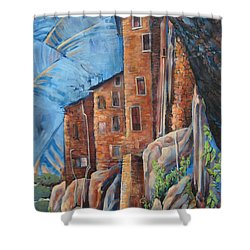 La Rocca Citta Lg Italy Shower Curtain