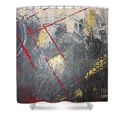 Shower Curtain featuring the painting La Ruche by Lucy Matta