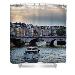 La Seine Shower Curtain by Inge Johnsson