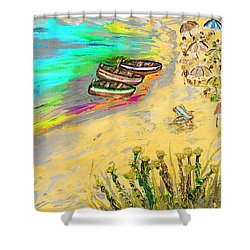 La Spiaggia Shower Curtain
