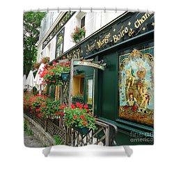 La Terrasse In Montmartre Shower Curtain