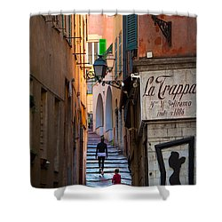 La Trappa Shower Curtain by Inge Johnsson