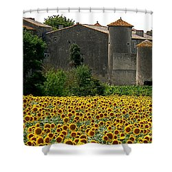 La Vie Est Belle Shower Curtain by France  Art
