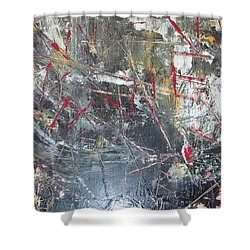 Shower Curtain featuring the painting La Vie by Lucy Matta