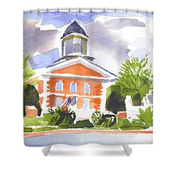 Labor Day Afternoon Shower Curtain by Kip DeVore