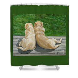 Labrador Lazy Afternoon Shower Curtain