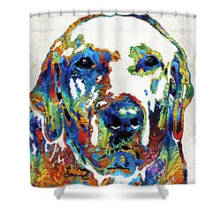 Labrador Retriever Art - Play With Me - By Sharon Cummings Shower Curtain