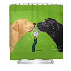 Labs Like To Share 2 Shower Curtain