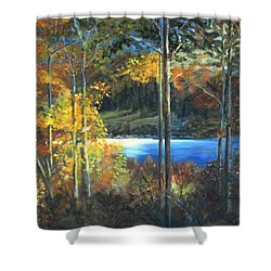 Lac Fortune Gatineau Park Quebec Shower Curtain by LaVonne Hand