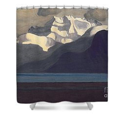 Lac Leman And Les Dents-du-midi Shower Curtain by Felix Edouard Vallotton