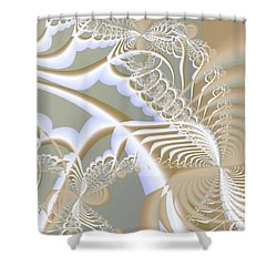 Lace Shower Curtain by Anastasiya Malakhova