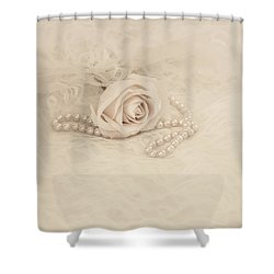 Lace And Promises Shower Curtain by Kim Hojnacki