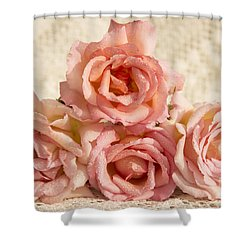 Lace And Roses Shower Curtain