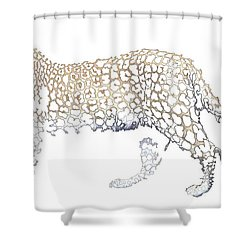 Shower Curtain featuring the digital art Lace Leopard by Stephanie Grant