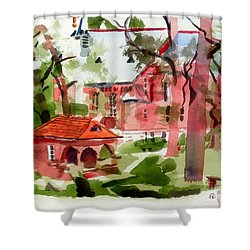 Lacy Spring Greens At Ursuline Academy Shower Curtain by Kip DeVore