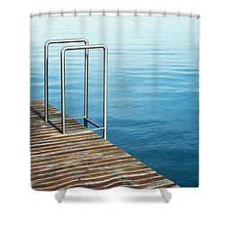 Shower Curtain featuring the photograph Ladder by Chevy Fleet