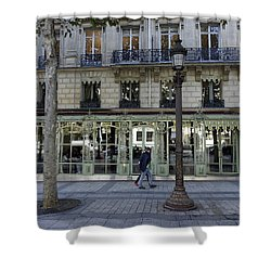Laduree On The Champs De Elysees In Paris France  Shower Curtain