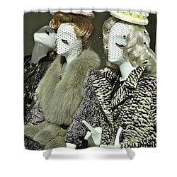 Ladies A La Mode Shower Curtain by Ira Shander