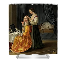 Lady At Her Toilet Shower Curtain by Netherlandish School