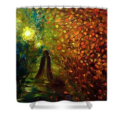 Lady Autumn Shower Curtain