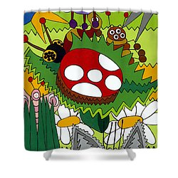 Lady Bug Shower Curtain