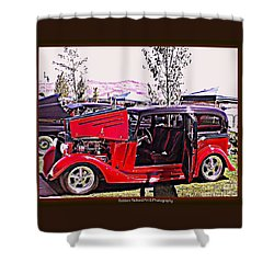 Shower Curtain featuring the photograph Lady Buggy by Bobbee Rickard