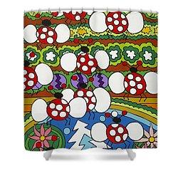 Lady Bugs Shower Curtain by Rojax Art
