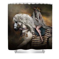 Lady Godiva Shower Curtain by Shanina Conway