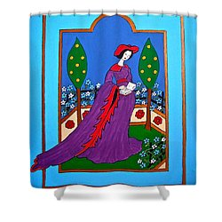Lady In A Garden Shower Curtain