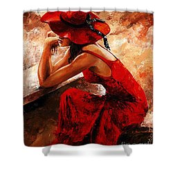 Lady In Red 21 Shower Curtain