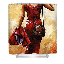 Lady In Red #25 Shower Curtain