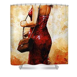 Lady In Red  30 Shower Curtain
