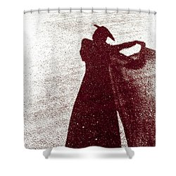 Lady In Red Shower Curtain by Caitlyn  Grasso