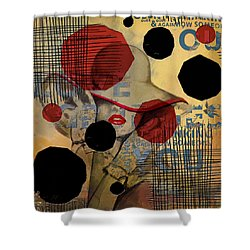 Lady In Red Shower Curtain by Corporate Art Task Force