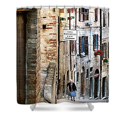 Lady In Urbino Shower Curtain