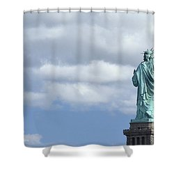 Lady Liberty   1 Shower Curtain by Allen Beatty