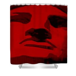 Lady Liberty In Red Shower Curtain by Rob Hans