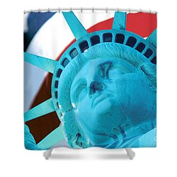Lady Liberty  Shower Curtain by Jerry Fornarotto