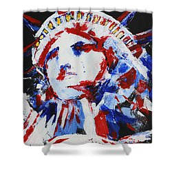Lady Liberty  Shower Curtain by Patricia Olson