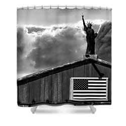 Lady Liberty Shower Curtain by Ron White