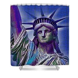 Lady Liberty Shower Curtain by Tony Rubino