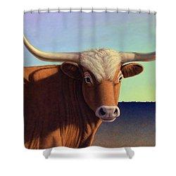 Lady Longhorn Shower Curtain