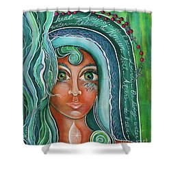 Lady Of Lourdes Madonna Shower Curtain