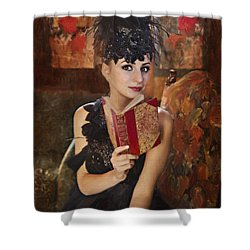 Lady Of Means In Olden Times Shower Curtain by Angela A Stanton
