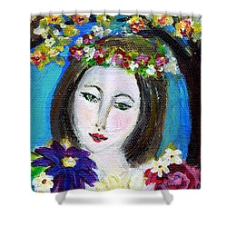 Lady Of Spring Shower Curtain