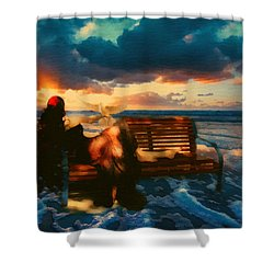 Lady Of The Ocean Shower Curtain