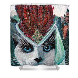 Lady Snowshoe Shower Curtain