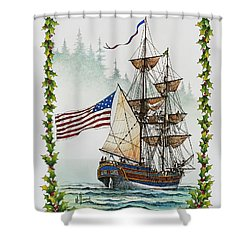 Lady Washington And Holly Shower Curtain by James Williamson