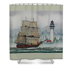 Lady Washington At Grays Harbor Shower Curtain by James Williamson