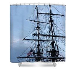 Lady Washington's Masts Shower Curtain by Heidi Smith